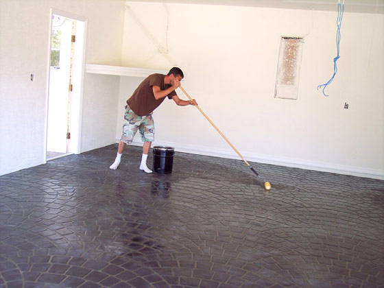 Decorative Concrete Flooring Interiors Kitchen Patio Foyers Garage Floors